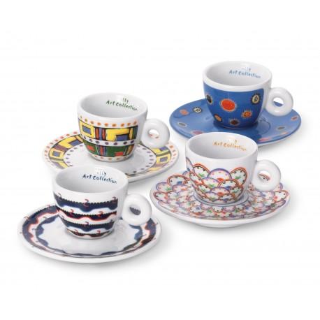 Set cesti cadou GILLO DORFLES Kit 2 (4 cesti cappuccino + 4 farfurii)