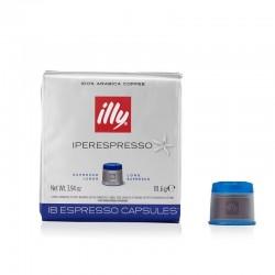 Cafea illy 18 capsule iperespresso lungo cu cofeina